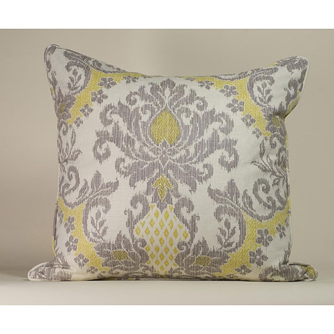 Soft Yellow Decorative Pillows : IKAT White/ Yellow Decorative Pillow - Overstock Shopping - The Best Prices on Throw Pillows