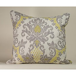 IKAT White/ Yellow Decorative Pillow
