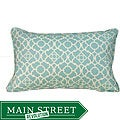 12 x 20-inch Blue Moroccan Outdoor Decorative Pillow