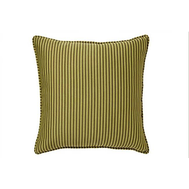 Thin Lines Citrine Decorative Pillow