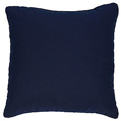 Navy 20-inch Knife-edged Indoor/Outdoor Pillows with Sunbrella Fabric (Set of 2)