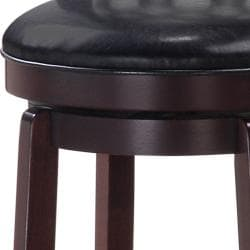 Allison Espresso Finish 30-inch Swivel Barstool