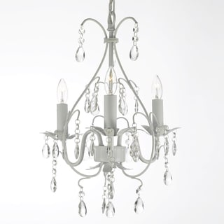 Versailles 3-light White Crystal Mini Chandelier