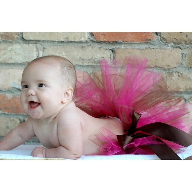 Adorable Brown and Hot Pink Tutu