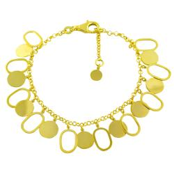 Fremada 14k Yellow Gold Luna Contempo Bracelet