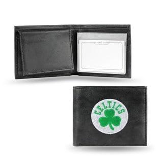 Boston Celtics Men's Black Leather Bi-fold Wallet