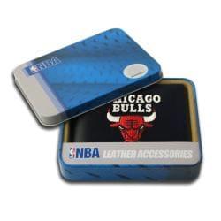 Chicago Bulls Men's Black Leather Bi-fold Wallet