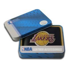 Los Angeles Lakers Men's Black Leather Bi-fold Wallet