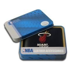 Miami Heat Men's Black Leather Bi-fold Wallet