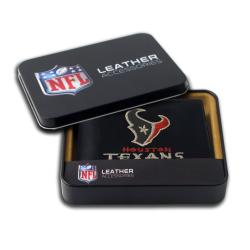 Houston Texans Men's Black Leather Bi-fold Wallet