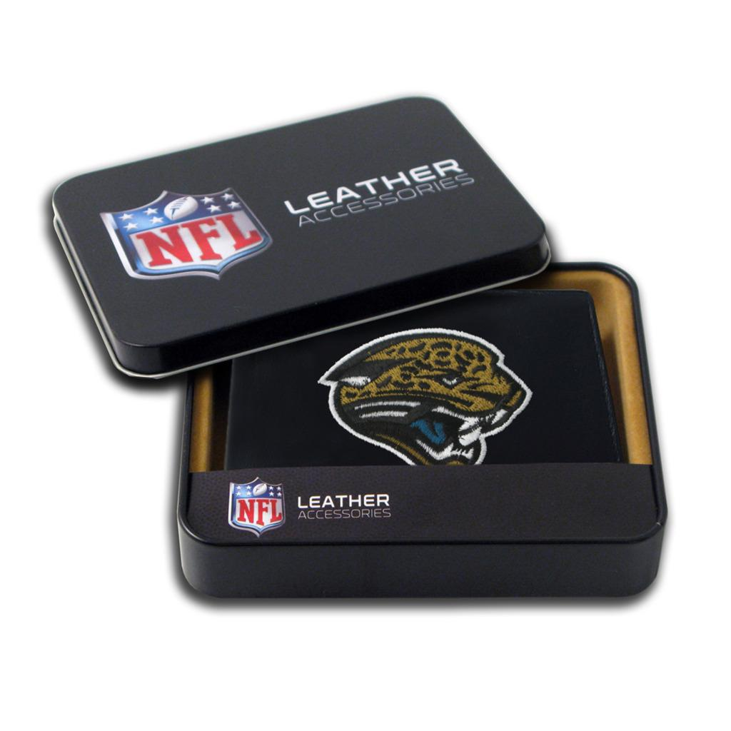 Jacksonville Jaguars Men's Black Leather Bi-fold Wallet