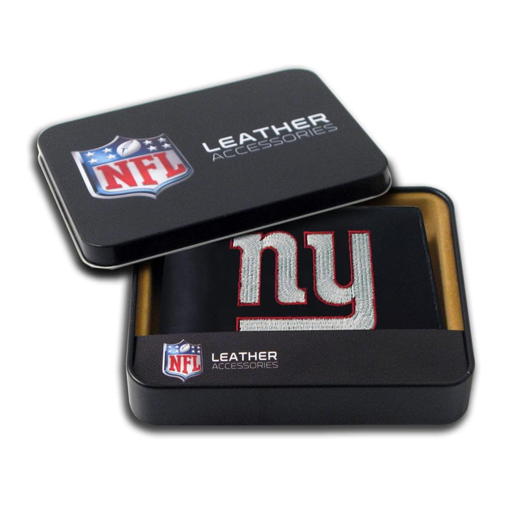 New York Giants Men's Black Leather Bi-fold Wallet