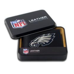 Philadelphia Eagles Men's Black Leather Bi-fold Wallet