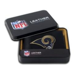 St. Louis Rams Men's Black Leather Bi-fold Wallet