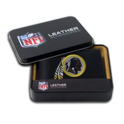 Washington Redskins Men's Black Leather Bi-fold Wallet
