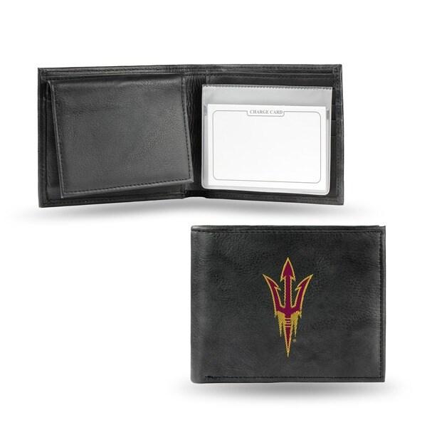 Arizona State Sun Devils Men's Black Leather Bi-fold Wallet 7448307