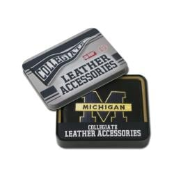 Michigan Wolverines Men's Black Leather Bi-fold Wallet