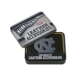 North Carolina Tar Heels Men's Black Leather Bi-fold Wallet