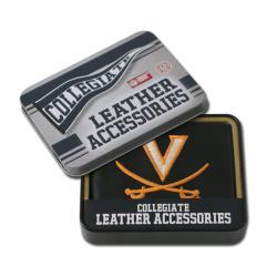 Virginia Cavaliers Men's Black Leather Bi-fold Wallet