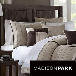 Madison Park Dune Beige/Brown 7-piece Contemporary Comforter Set