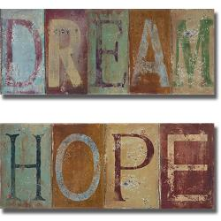 Patricia Pinto 'Dream and Hope' 2-piece Canvas Art Set