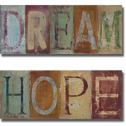 Patricia Pinto 'Dream and Hope' 2-piece Canvas Art Set