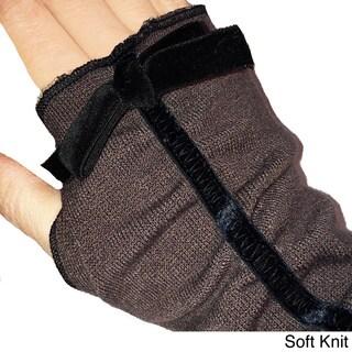 Fingerless Soft Knit Gloves