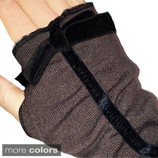 Fingerless Soft Knit Gloves