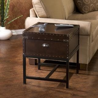 Brookwood Espresso Storage End Table