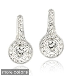 Icz Stonez Sterling Silver Cubic Zirconia Leverback Earrings