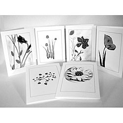 Kathie McCurdy Black and White Flower Greeting Cards (Set of 6)