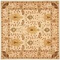 Safavieh Handmade Oushak Ivory Wool Rug (6' Square)