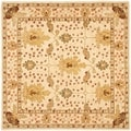 Handmade Oushak Ivory Wool Rug (6&#39; Square)