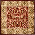 Handmade Heritage Treasures Red/Gold Wool Area Rug (6' Square)