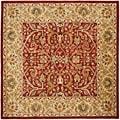 Safavieh Handmade Heritage Treasures Red/Gold Wool Area Rug (6' Square)