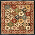 Handmade Heritage Heirloom Multicolor Wool Rug (6' Square)