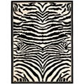 Lyndhurst Collection Zebra Black/ White Rug (4' x 6')