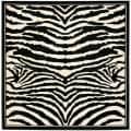 Safavieh Lyndhurst Collection Zebra Black/ White Rug (8' Square)