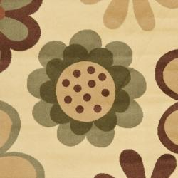 Safavieh Fine-spun Dasies Floral Ivory/ Green Area Rug (6'7 x 9'6)