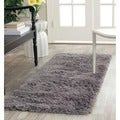 Hand-woven Bliss Grey Shag Runner (2'3 x 6')