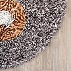Safavieh Hand-woven Bliss Grey Shag Rug (4' Round)