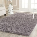 Safavieh Hand-woven Bliss Grey Shag Rug (5' x 8')