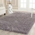 Safavieh Hand-woven Bliss Grey Shag Rug (6' x 9')