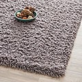 Hand-woven Bliss Grey Shag Rug (7' Square)