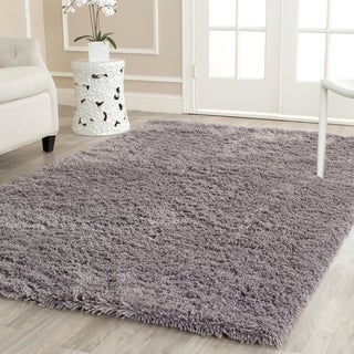 Safavieh Hand-woven Bliss Grey Shag Rug (7'6 x 9'6)