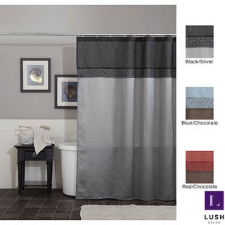 Lush Decor Geometrica Shower Curtain