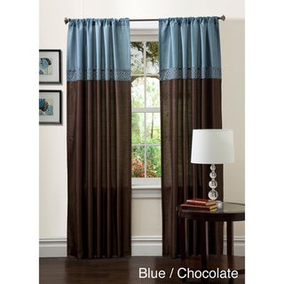 Lush Decor 84-inch Geometrica Curtain Panel Pair