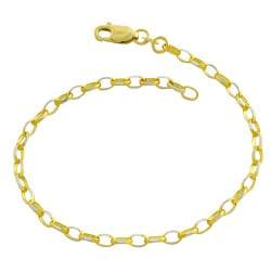 Fremada 14k Two-tone Gold Diamond-cut Cable Link Bracelet