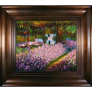 Claude Monet 'Artist's Garden at Giverny' Framed Canvas Wall Art