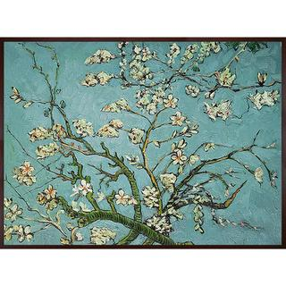 Van Gogh 'Branches of Almond Tree' Hand-painted Framed Canvas Art